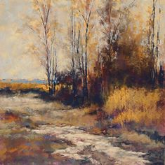 Crow Creek by Lyn Asselta Pastel ~ 20 x 20