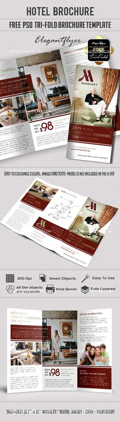 Travel Agency u2013 Free Brochure PSD Template    www - hotel brochure template