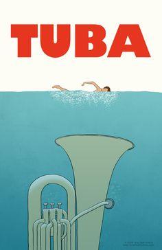 Tuba poster from Tone Deaf Comics