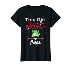 This Girl Loves Frog T-Shirt Amazing Frog Gift Press