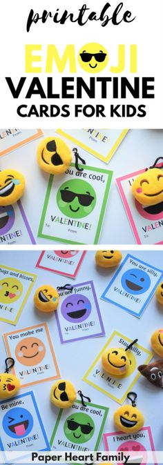 Looking for free printable valentines for your child to give out in school? These emoji keychain valentine cards are candy free, super popular and gender neutral.