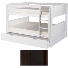 """Full over Full Panel HB Low Bunk Bed with Trundle (Cappuccino) (58 1/2""""H x 80 1/2""""W x 61""""D) Camaflexi"""