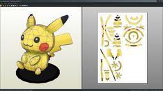 Pikachu doll papercraft unfold by Antyyy.deviantart.com on @DeviantArt