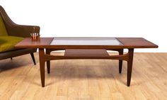 G Plan Fresco Coffee Table Teak Glass V B Wilkins Retro