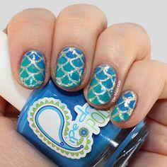 Mermaid Nails - Pipe Dream Polish & Essie