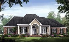 Plan W51039MM - upstairs bonus room does not have bathroom. Has oversized 2 car garage.