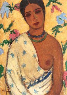 Portrait of a Biracial Woman : Nicolae Tonitza : Post Impressionism : portrait - Oil Painting Reproductions Human Figure Drawing, Life Drawing, Pop Art, Biracial Women, Expressionist Artists, Art Brut, Post Impressionism, Oil Painting Reproductions, Figure Painting