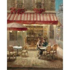 Paris Cafe II Crop Canvas Art - Danhui Nai (24 x 30)