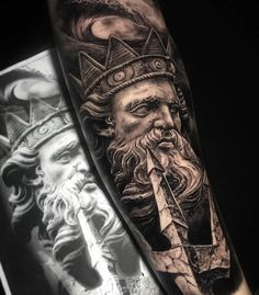 Cool Greek God Forearm Tattoo Design Ideas For Men - Best Forearm Tattoos For Men: Cool Inner and Outer Forearm Tattoo Designs, Top Arm Tattoo Ideas For Guys Tattoo 125 Best Forearm Tattoos For Men: Cool Ideas + Designs Guide) Outer Forearm Tattoo, Forearm Sleeve Tattoos, Forearm Tattoo Design, Tattoo Sleeve Designs, Forearm Tattoo Men, Tattoo Designs Men, Inner Forearm, Zeus Tattoo, Poseidon Tattoo