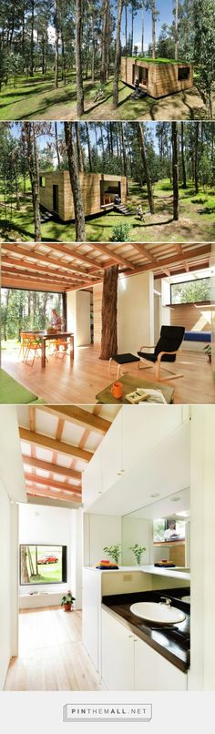 A small house for Ecuador by Velasco Roldan and Hevia Antuña - The small house has an almost square floor plan of 48.7 m2