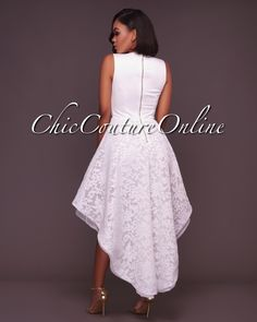 Chic Couture Online - Lauren Off-White Embroidery High-Low Dress,(http://www.chiccoutureonline.com/lauren-off-white-embroidery-high-low-dress/)