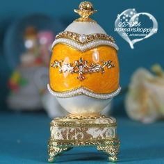 Marble yellow Faberge style Russian carved egg music box free shipping e12 on AtomicMall.com http://atomicmall.com/view.php?id=2287302_source=Twitter_medium=ProductToools