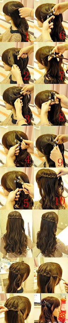hairstyle: step by step