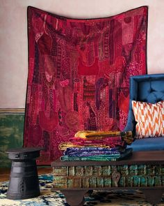 La Maison Boheme: Woven Textiles | Layer it On ... So many beautiful looks! Love the decor on this page!