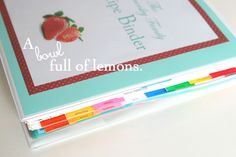 Recipe Binder with printable cover and spine | A Bowl Full of Lemons