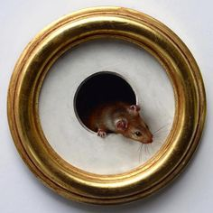 adorable trompe l'oeil painting by Marina Deuhl