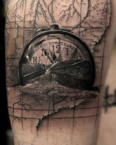 Time is Running Out- Broken pocketwatch piece created by Artist @niki23gtr of…