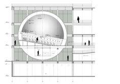 Planetarium Architecture, Auditorium Architecture, Water Architecture, Architecture Drawings, Architecture Design, Astronomy Science, Parametric Design, Architectural Section, Urban Planning