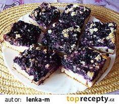 Borůvkový koláč s tvarohem recept - TopRecepty.cz