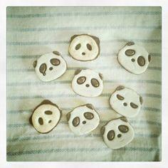 panda bear cookies #panda #cookies #cute