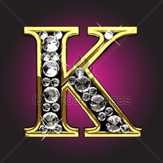 Diamond Letter K Letter K Design, Alphabet Letters Design, Monogram Alphabet, Alphabet And Numbers, Love Heart Images, Diamond Vector, Picture Letters, Beautiful Flowers Wallpapers, Cool Fonts