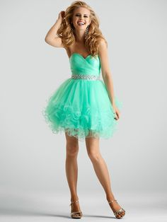 Mint green short ball gown sweetheart crystal tulle homecoming dresses 2015 prom gown online with Sparkly Prom Dresses, Prom Dress 2014, Strapless Cocktail Dresses, Cocktail Dress Prom, Tulle Prom Dress, Grad Dresses, Prom Party Dresses, Pretty Dresses, Homecoming Dresses