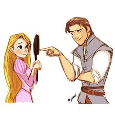Eugene and Rapunzel by Nyamo