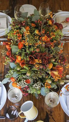 Centerpiece for the Thanksgiving table.