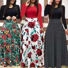 Details about New Women Floral Maxi Dress Prom Evening Party Summer Beach Casual Long Sundress Neue frauen floral maxi dress prom abendgesellschaft sommer strand casual lange sommerkleid African Fashion Dresses, Fashion Outfits, Womens Fashion, Party Fashion, Fashion Blogs, Beach Fashion, Fashion Fall, Dress Fashion, Boho Fashion