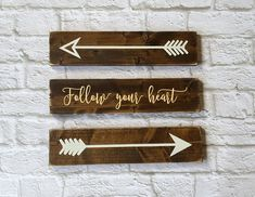 Dream Wall Art Rustic Wooden Arrows 3 by BeautifulBySisters Baby Room Decor, Nursery Decor, Wall Decor, In Loving Memory Gifts, Jacobean Stain, Arrow Nursery, Established Family Signs, Homemade Signs, Arrow Decor