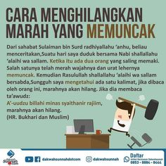 Com: Cara menghilangkan marah yang memuncak. Hijrah Islam, Doa Islam, Muslim Quotes, Islamic Quotes, Peaceful Heart, Success Principles, Islamic Messages, Financial Planner, Self Reminder