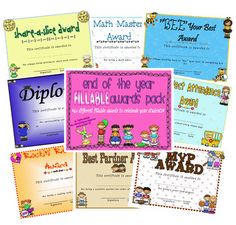 """End of the year awards- free """"Perfect Attendance"""" award!  :)"""