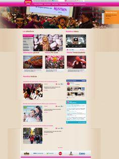 Página web de mistura, enfocada al cliente y a divertir.