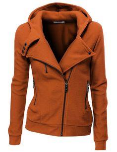 Women Fleece Zip up hoodie but in black, red or grey | Fashion World