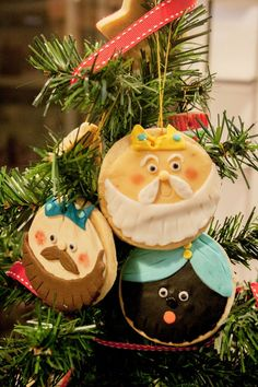 Galletas decoradas con fondant:Reyes Magos