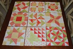 {Sisters and Quilters}: APPLE PIE IN THE SKY QUILT ALONG BLOCK 9 blocks