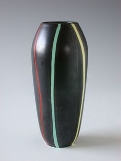 "Ceramic vase ""Pisa"". Ursula Fesca for Wächtersbach Germany  $ 170.00"