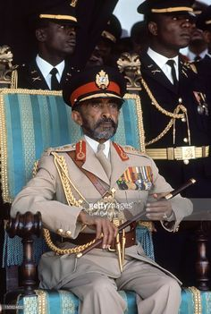 Emperor of Ethiopia Haile Selassie I sitting in a chair during a visit to Jamaica, April Get premium, high resolution news photos at Getty Images Haile Selassie, Kings & Queens, Jah Rastafari, Black Royalty, African Royalty, Lion Of Judah, Black History Facts, King Of Kings, King King