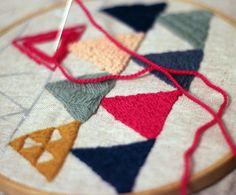 Embroidery Craft Kit  Geometric Sampler  DIY Crewel by takofibers, $55.00