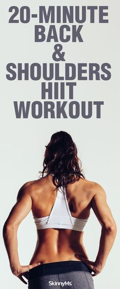 Back and Shoulders HIIT Workout: A workout that will get you an awesome back and shoulders in only 20 minutes a day! -workout -skinnymsfitness Back and Shoulders HIIT Workout: A workout that will get you an awesome back and shoulders in only 20 minute Lower Ab Workouts, Back Exercises, Hiit Cardio Exercises, Weight Exercises, Fun Workouts, Yoga Routine, Back And Shoulder Workout, Workout Bauch, Skinny Ms