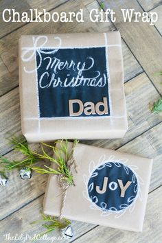 DIY Chalkboard Gift Wrap - how cute!