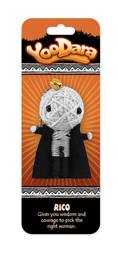 YooDara Good Luck Charms - Rico gives you wisdom and courage to pick the right woman. #voodoo doll #string doll