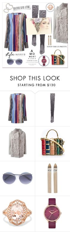 """""""Style insider"""" by zabead ❤ liked on Polyvore featuring Missoni, Steve Madden, s.w.o.r.d 6.6.44, Dolce&Gabbana, Marc Jacobs, Effy Jewelry and Nixon"""