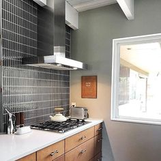 This classic black subway tiles are decorative and durable, making it a great backdrop. The glass tile will reflect the light in your room, giving it a fresh, clean and brighter look. Using a subway tile as a backsplash you will add some color and style to your kitchen decor or any decorated room in your home. It will also give it a more distinct look.