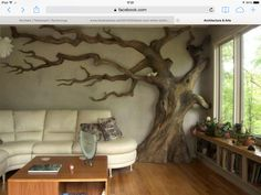 Indoor tree as seen on Architecture and Arts Facebook page