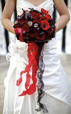 A Nightmare Before Christmas Wedding Bouquet (Emily if you do not have this bouquet I might have to slap you)