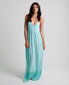 WONDER MAXI DRESS // beach glass -  Do wonders to your wardrobe with this attractive maxi dress with braided strap detail and ruffle at hem.
