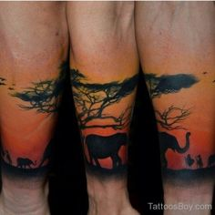 African Tree Tattoo