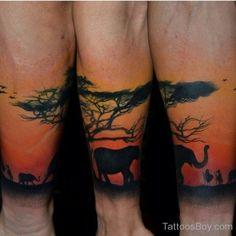 African Tree Tattoo