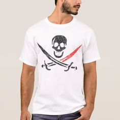 Shop Jolly Roger BloodTip Vintage Blackbeard T-Shirt created by nagasaki_fats. Jolly Roger, Closet Staples, Fitness Models, Unisex, T Shirt, Casual, Vintage, Sleeves, Cotton